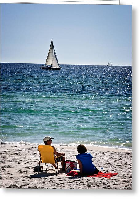Panama City Beach Greeting Cards - Sailing sailing Greeting Card by George Taylor