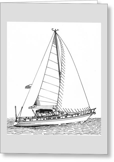 Sailboats In Water Greeting Cards - Sailing Sailing Sailing Greeting Card by Jack Pumphrey