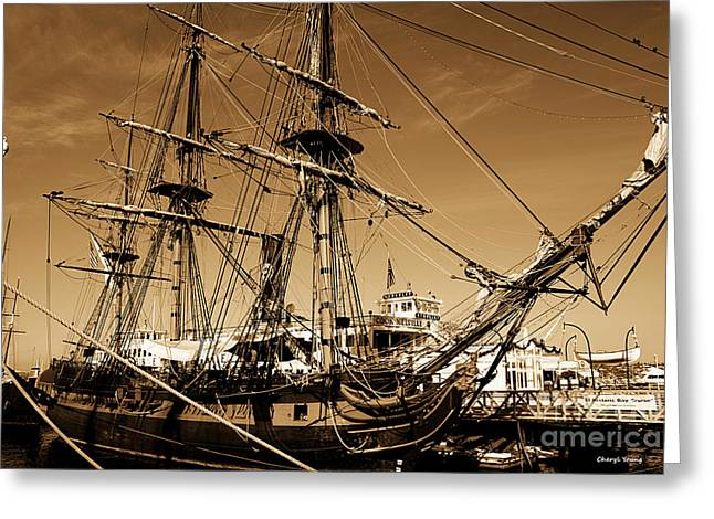 Surprise Greeting Cards - Sailing Ships Greeting Card by Cheryl Young