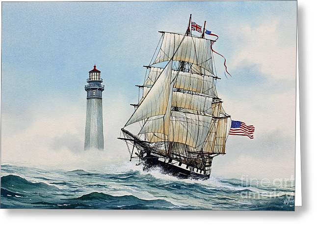 Old Ship Art Greeting Cards - Sailing Spirit Greeting Card by James Williamson