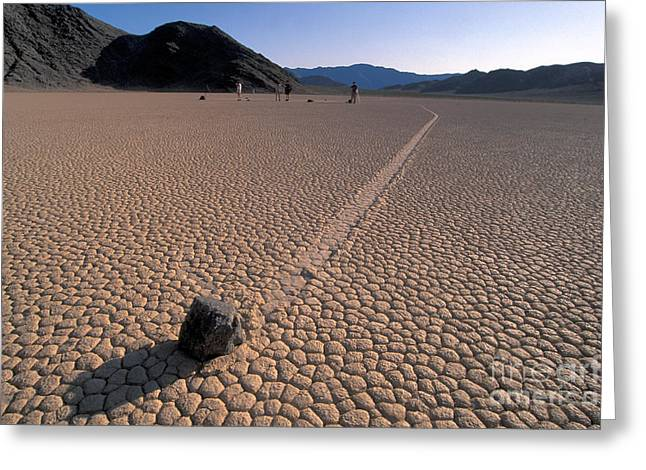 Dry Lake Greeting Cards - Sailing Stones Greeting Card by Mark Newman