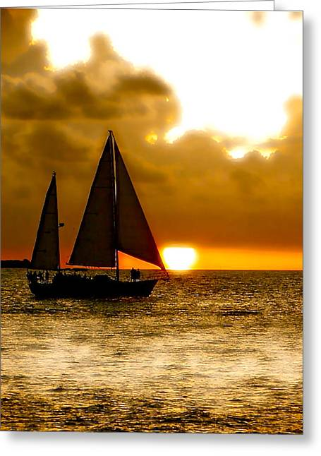 Smart Mixed Media Greeting Cards - Sailing The Keys Greeting Card by Iconic Images Art Gallery David Pucciarelli