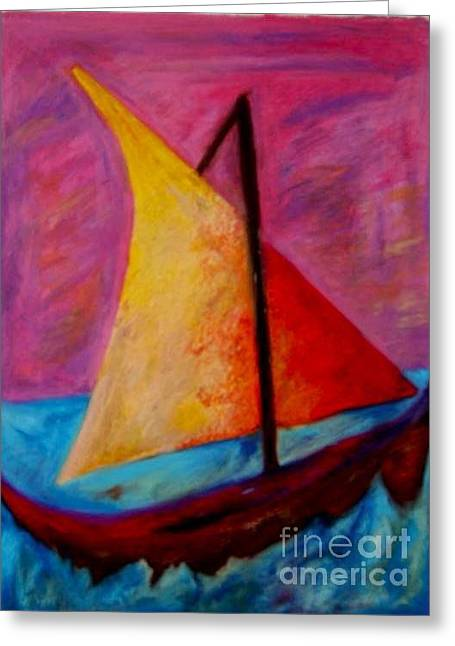 Amazing Pastels Greeting Cards - Sailing the Seas Greeting Card by Jon Kittleson