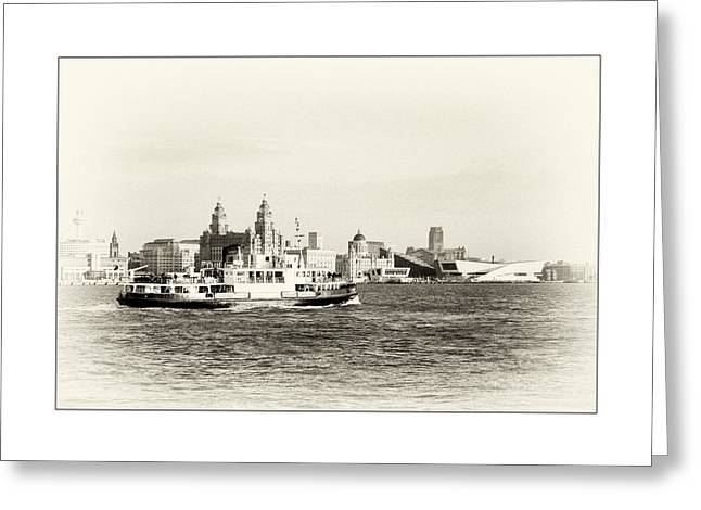 Historic Statue Greeting Cards - Sailing up the Mersey Greeting Card by Karen Lawrence  SMPhotography