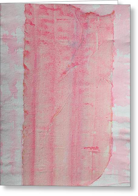 Abstract Expressionist Greeting Cards - Sailing With Clouds in Pink Greeting Card by Asha Carolyn Young