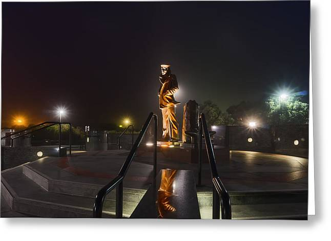Phil Clark Photographs Greeting Cards - Sailor Monument Golden Gate Bridge Greeting Card by Phil Clark