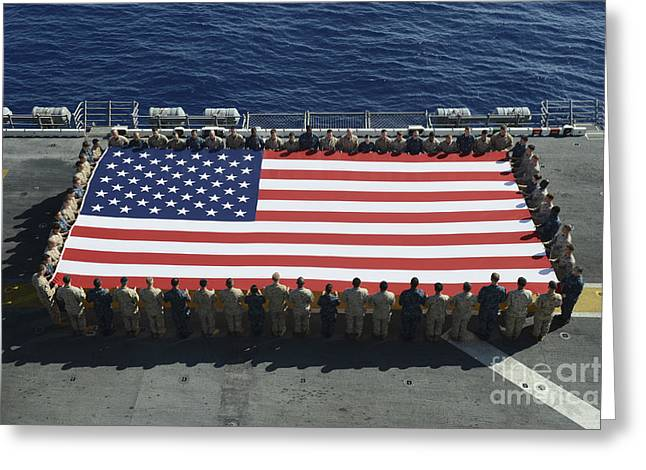 Sailors And Marines Display Greeting Card by Stocktrek Images