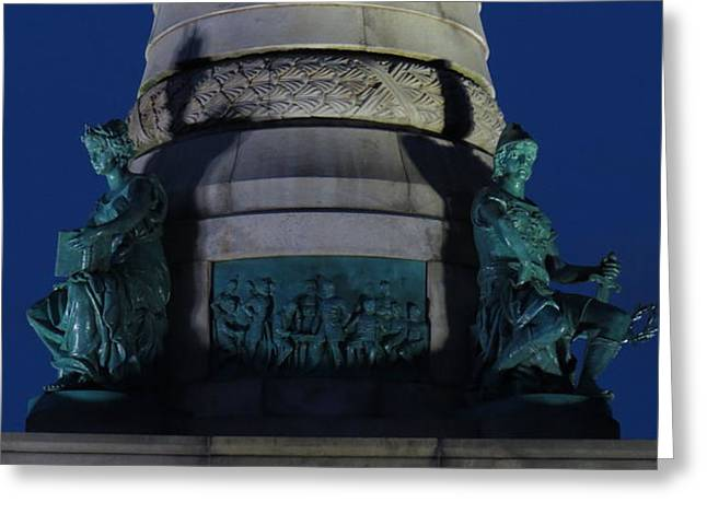 Sailors And Soldiers Monument By Night Greeting Card by Stephen Melcher