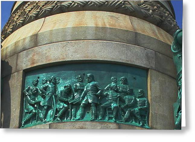 Historic Statue Greeting Cards - Sailors and Soldiers Greeting Card by Stephen Melcher