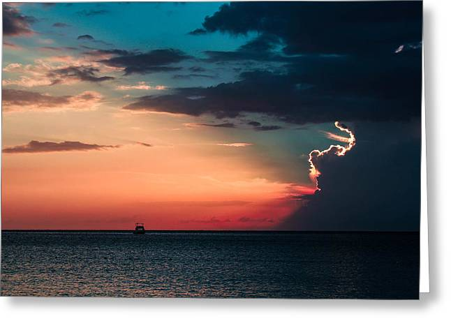 Jamaican Sunset Greeting Cards - Sailors Delight Greeting Card by Todd Reese