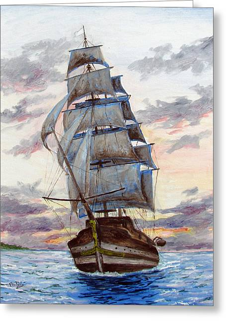 Recently Sold -  - Sunset Framed Prints Greeting Cards - Sailors Dream Greeting Card by Philip Lee