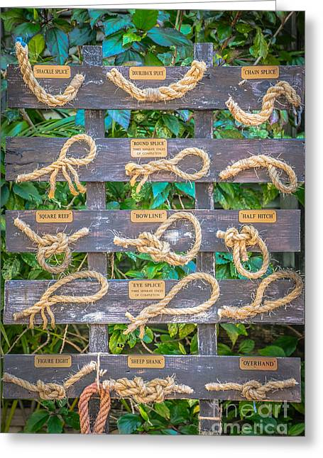 Sailor's Knots Key West - Hdr Style Greeting Card by Ian Monk