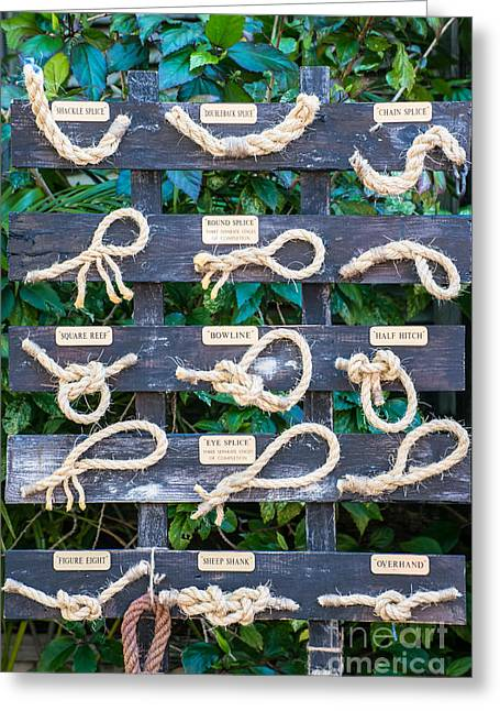 Liberal Greeting Cards - Sailors Knots Key West Greeting Card by Ian Monk