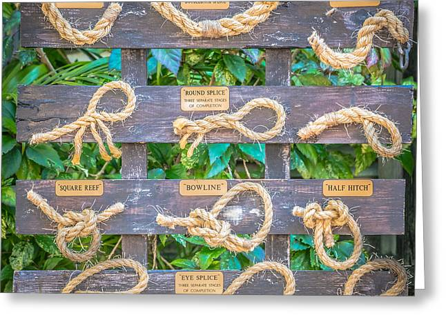 Sailor's Knots Key West Square - Hdr Style Greeting Card by Ian Monk