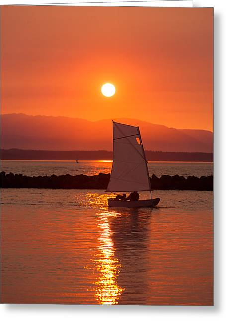 Best Sailing Photos Greeting Cards - Sailors Solitude 1 Greeting Card by Scott Campbell