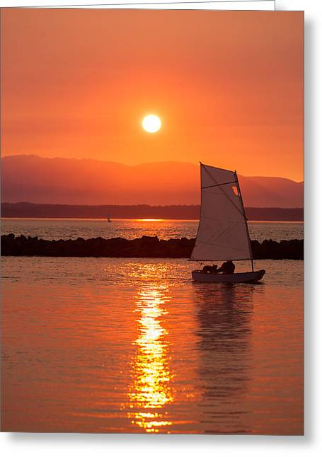 Best Sailing Photos Greeting Cards - Sailors Solitude 2 Greeting Card by Scott Campbell