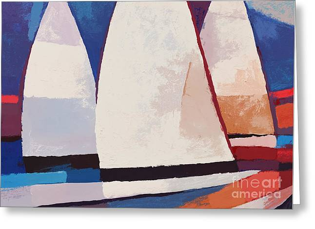 Ahead Greeting Cards - Sails ahead graphic Greeting Card by Lutz Baar