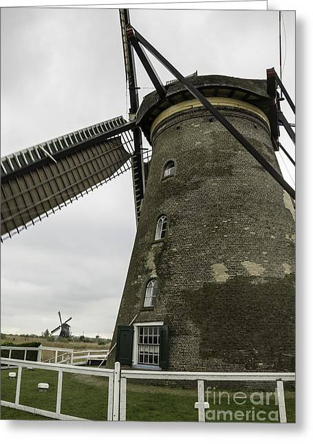 Historic Site Greeting Cards - Sails Away Kinderdijk Greeting Card by Teresa Mucha