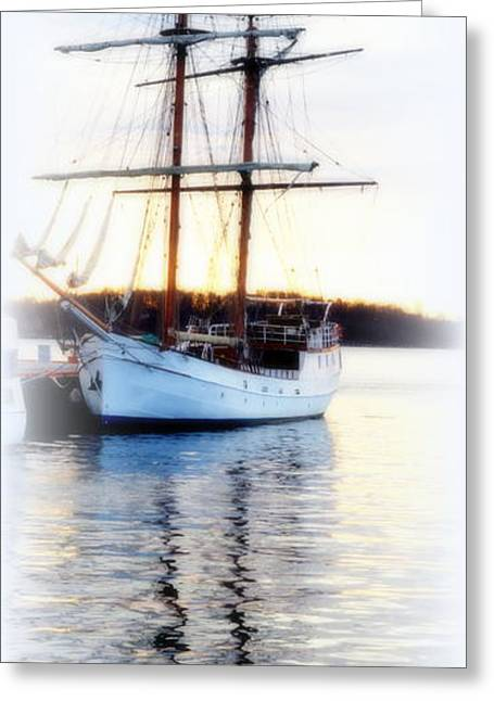 Abstract Expression Greeting Cards - Sailship Mirror Greeting Card by Hilde Widerberg