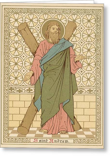 Robe Drawings Greeting Cards - Saint Andrew Greeting Card by English School