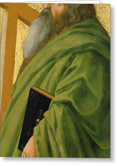 Catholic Saints Paintings Greeting Cards - Saint Andrew Greeting Card by Tommaso Masaccio