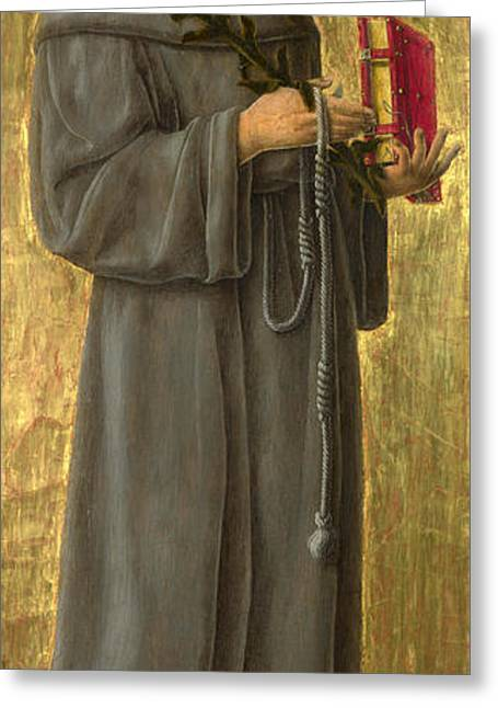 Giorgio Greeting Cards - Saint Anthony of Padua Greeting Card by Giorgio Schiavone