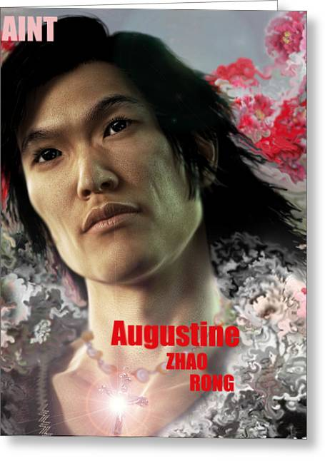 Martyrs Digital Art Greeting Cards - Saint Augustine Zhao Rong  Greeting Card by Suzanne Silvir