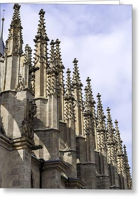 Medieval Temple Greeting Cards - Saint Barbaras Church. Greeting Card by Fernando Barozza