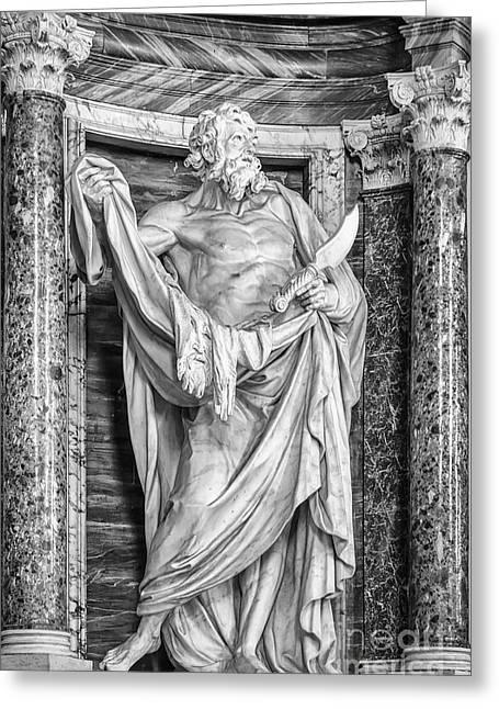 Lateran Greeting Cards - Saint Bartholomew Greeting Card by Verena Matthew