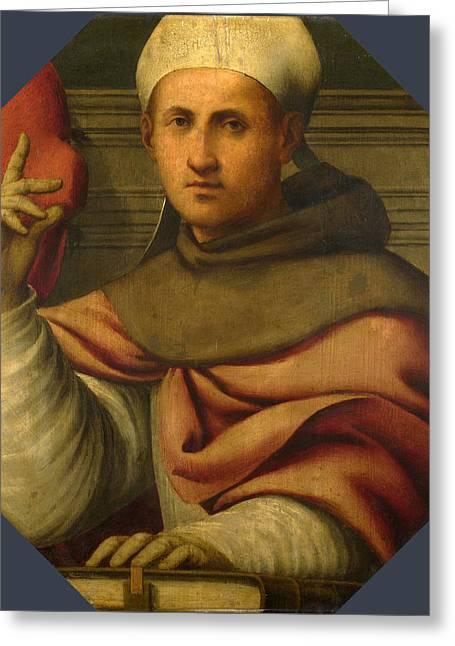 Bonaventure Greeting Cards - Saint Bonaventure Greeting Card by Giovanni Antonio Pordenone
