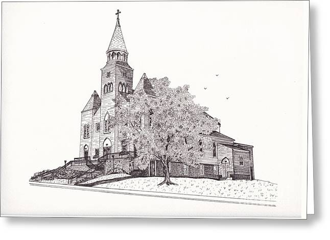 Saint Bridget Church Greeting Card by Michelle Welles