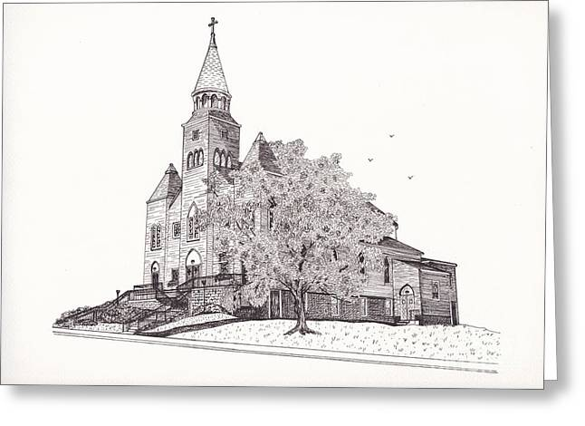 Saint Bridget Church Greeting Card by Michelle Welles