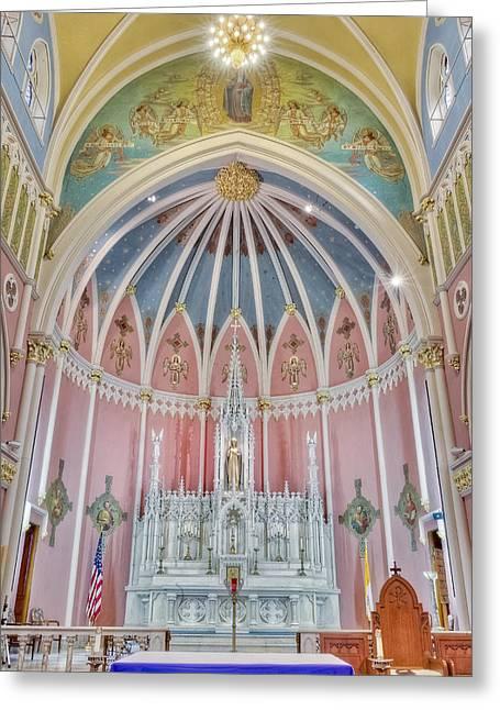 Saint Briget Greeting Cards - Saint Bridgets Altar Greeting Card by Susan Candelario