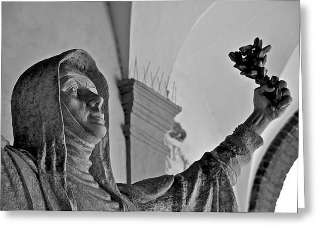Saint Catherine of Siena Greeting Card by Leslie Lovell