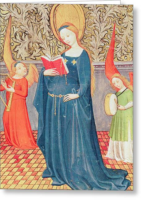 Book Of Martyrs Greeting Cards - Saint Cecilia Greeting Card by Flemish School