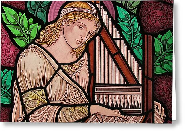 Saint Cecilia Greeting Card by Gilroy Stained Glass