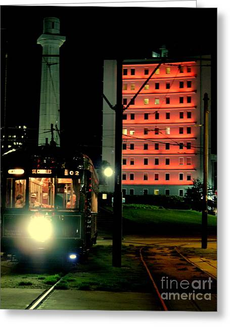New Orleans Louisiana Framed Prints Greeting Cards - Saint Charles Avenue Street Car In New Orleans Louisiana #2 Greeting Card by Michael Hoard