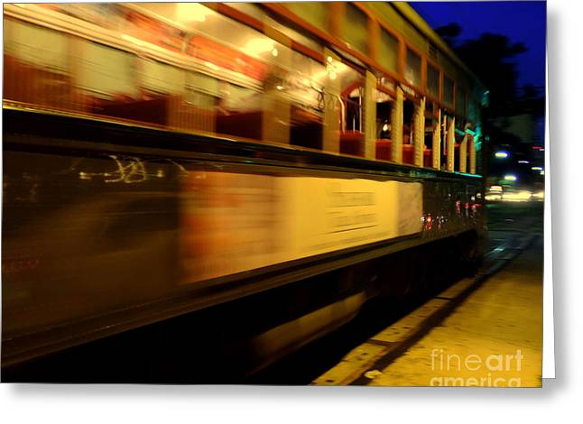 St Charles Avenue Greeting Cards - Saint Charles Avenue Street Car In New Orleans Louisiana #7 Greeting Card by Michael Hoard