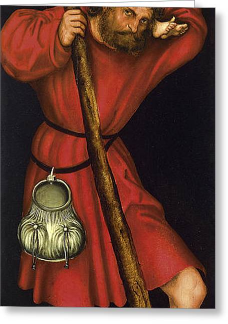 Saint Christopher Paintings Greeting Cards - Saint Christopher Greeting Card by Lucas Cranach the Elder