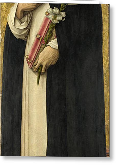 Saint Dominic Greeting Cards - Saint Dominic Greeting Card by Carlo Crivelli