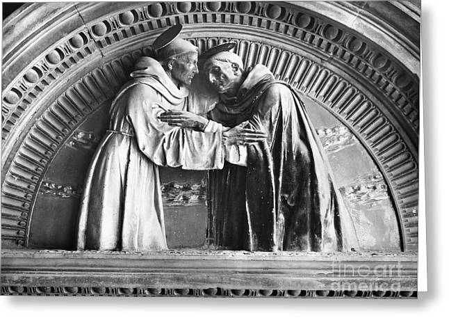 Fine Sculptures Greeting Cards - Saint Francis And Saint Dominic Greeting Card by Granger