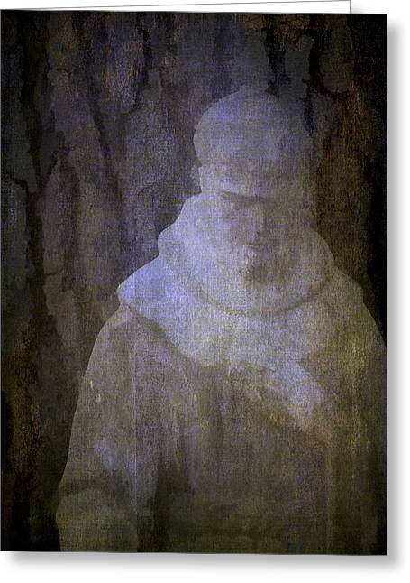 Garden Statuary Greeting Cards - Saint Francis Greeting Card by Pamela Cooper