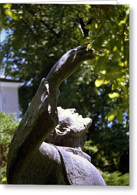 Best Sellers -  - Garden Statuary Greeting Cards - Saint Francis Sculpture Greeting Card by Marianne Miles