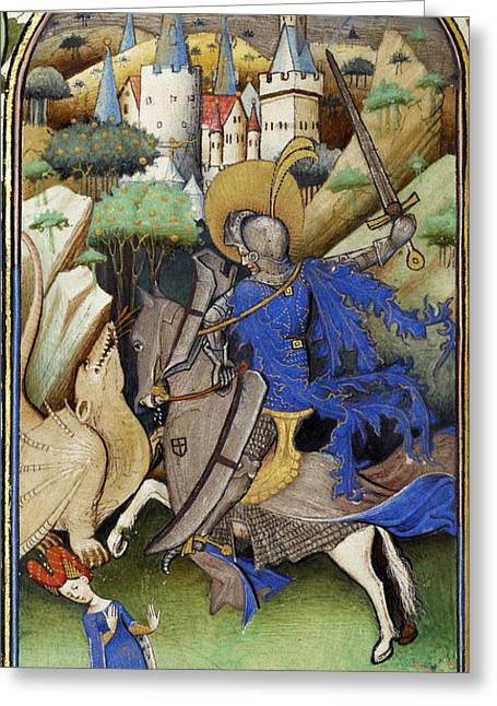 Slay Greeting Cards - Saint George And The Dragon Greeting Card by Getty Research Institute