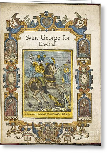Famous People Photographs Greeting Cards - Saint George For England Greeting Card by British Library