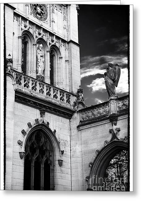 Catholic Angel Greeting Cards - Saint-Germain of Auxerrois Church Greeting Card by John Rizzuto