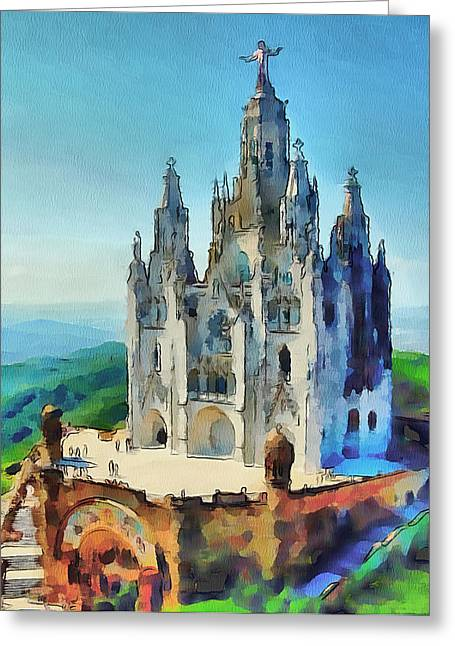 Saint Heart Cathedral Greeting Card by Yury Malkov