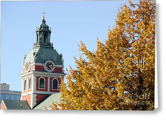 Renaissance Center Greeting Cards - Saint Jamess Church in Stockholm Sweden Greeting Card by Aleksandar Mijatovic