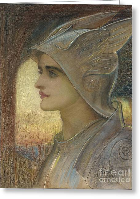 Figures Pastels Greeting Cards - Saint Joan of Arc Greeting Card by Sir William Blake Richomond