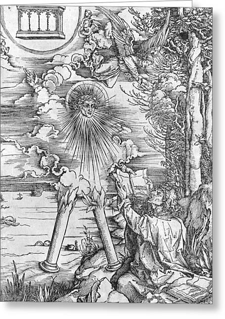 Apocalyptic Greeting Cards - Saint John Greeting Card by Albrecht Durer or Duerer